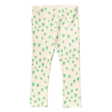 Noe and zoe green heart print girls leggings