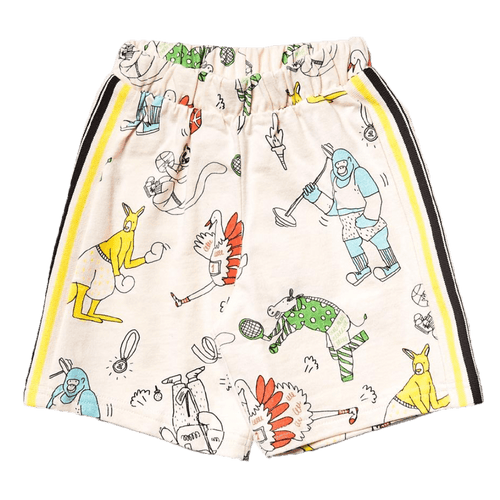 Noe and zoe animal print knit boys shorts