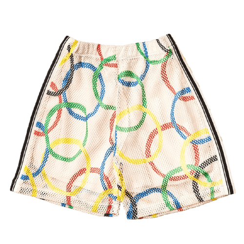 Noe and zoe olympic ring print boys shorts