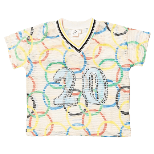 Noe and zoe olympic rings short sleeve boys tee