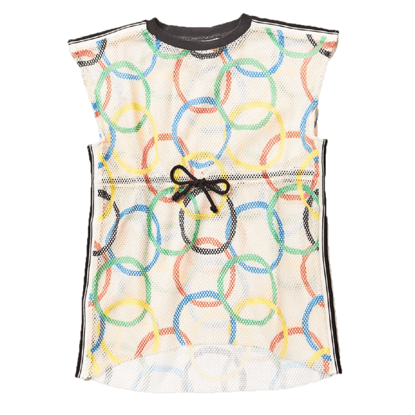 Noe and zoe olympic print short sleeve dress for girls