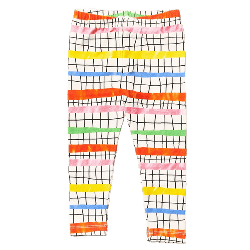 Noe and zoe colorful geometric girls leggings