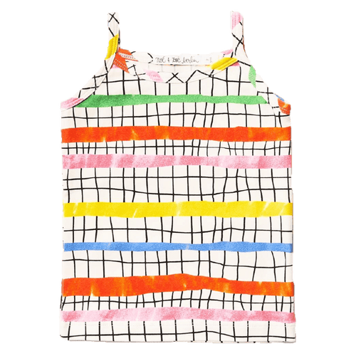 Noe and zoe colorful geometric girls tank top