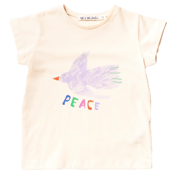 Noe and zoe dove peace girls graphic t-shirt