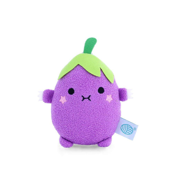 Noodoll eggplant mini stuffed animal plush toy for babies and toddlers