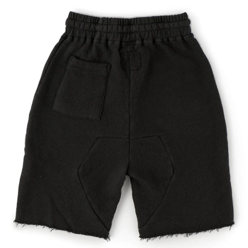 Nununu black jersey drawstring boys shorts