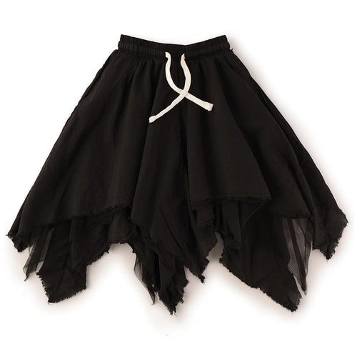 Nununu black asymmetrical girls skirt