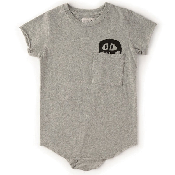 Nununu grey short sleeve skull boys t-shirt