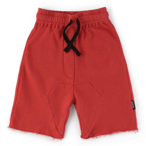 Nununu red knit boys shorts