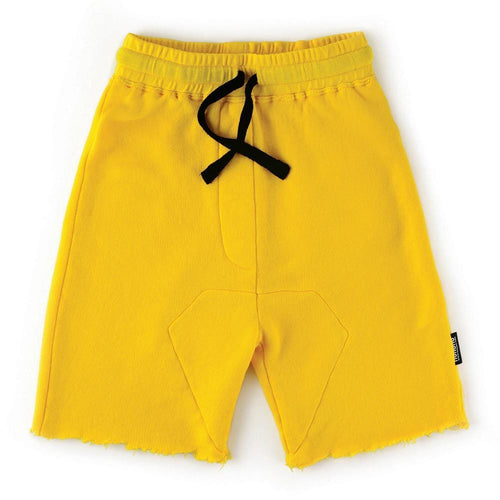 Nununu yellow knit drawstring boys shorts