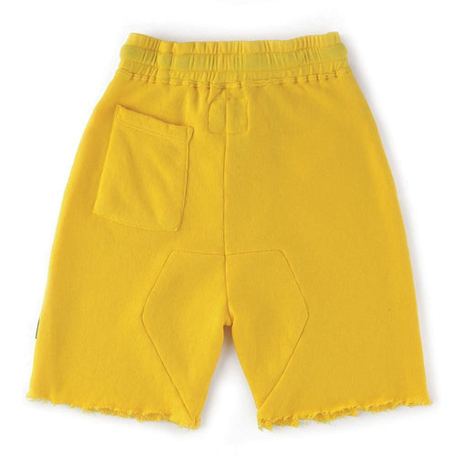 Nununu yellow jersey drawstring boys shorts
