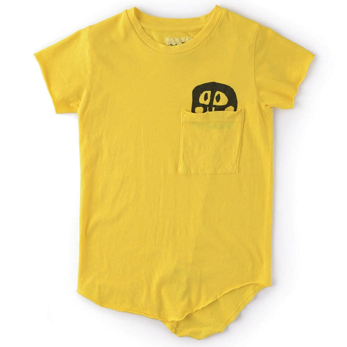Nununu yellow short sleeve skull boys tee