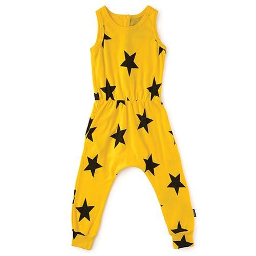 Nununu yellow star girls romper