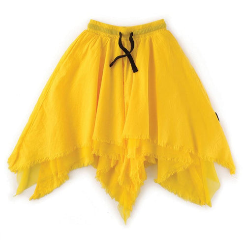 Nununu yellow asymmetrical girls skirt