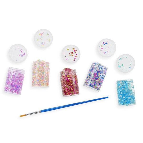 Ooly multicolored dot glitter glue set