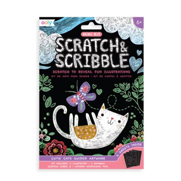 Mini Scratch & Scribble Cutie Cats Art Kit by Ooly