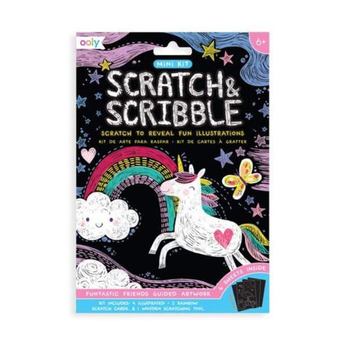 Mini Scratch & Scribble Funtastic Friends Art Kit by Ooly