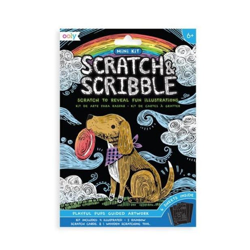 Mini Scratch & Scribble Playful Pups Art Kit by Ooly