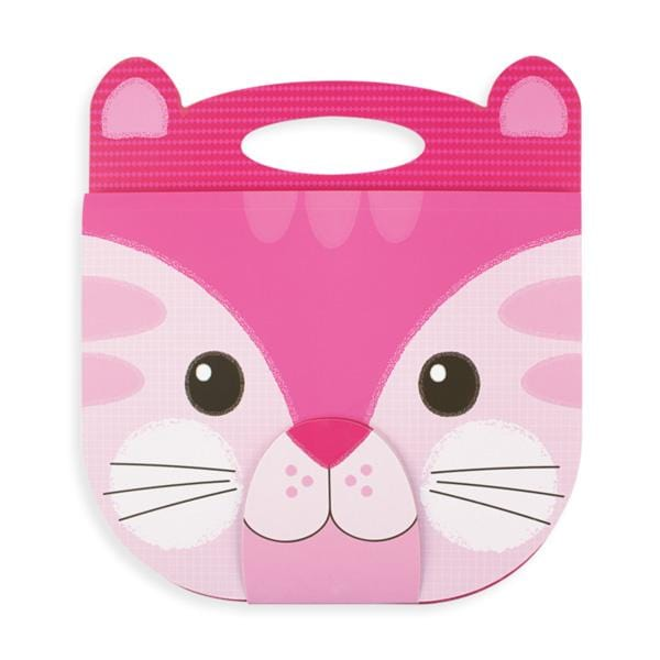 Ooly pink kitty cat face sketchpad for kids