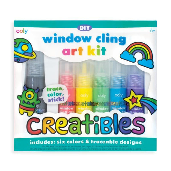 OOLY rainbow window art paint kit for kids
