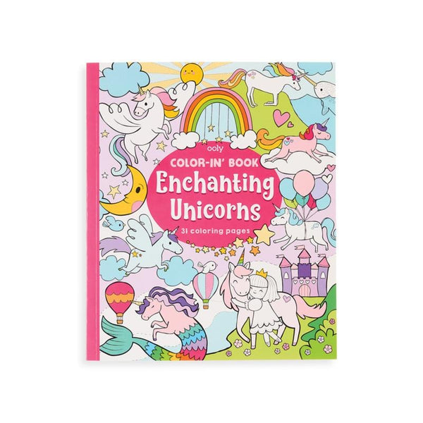 Ooly unicorn themed kids coloring book