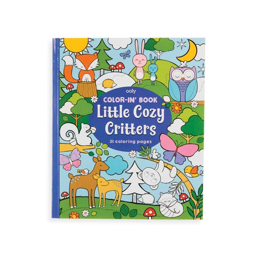 Ooly forest creatures themed kids coloring book