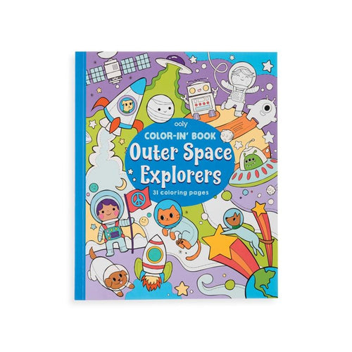 Ooly outer space exploring themed kids coloring book