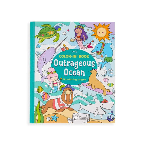 Ooly ocean themed kids coloring book