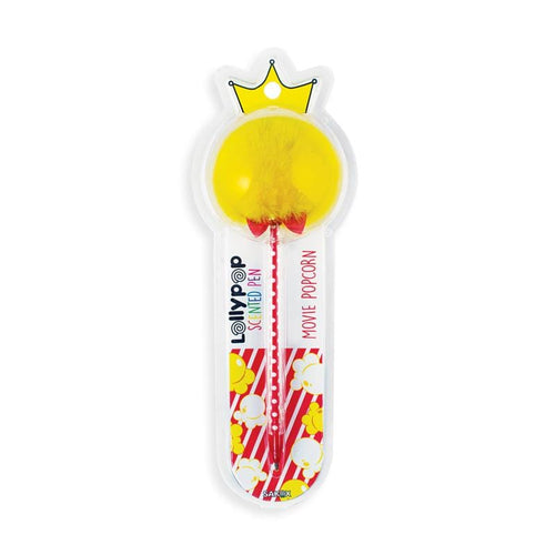 Ooly Yellow Movie Popcorn Scented Pom Pom Pen