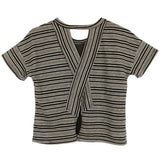 Cross back black stripe tween tee