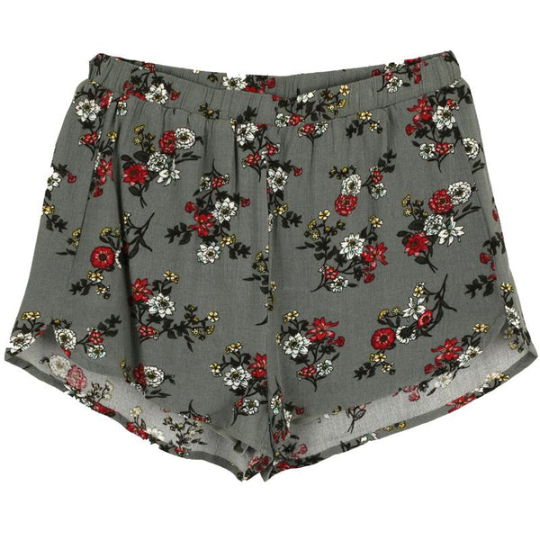 Grey floral tween girl shorts | Tween clothing