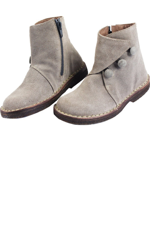 Beige Suede Girls Ankle Boots by PePe Shoes - Little Skye Children's Boutique