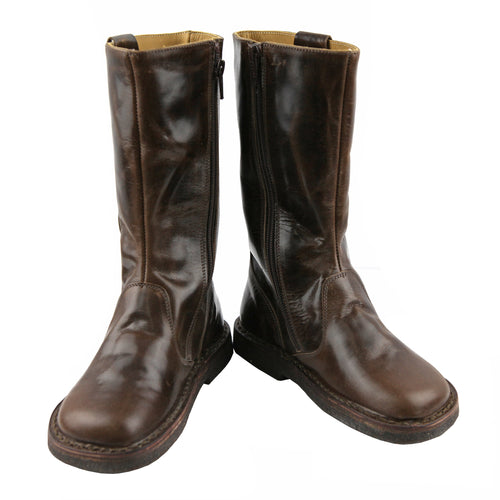 Brown midcalf girls leather boots