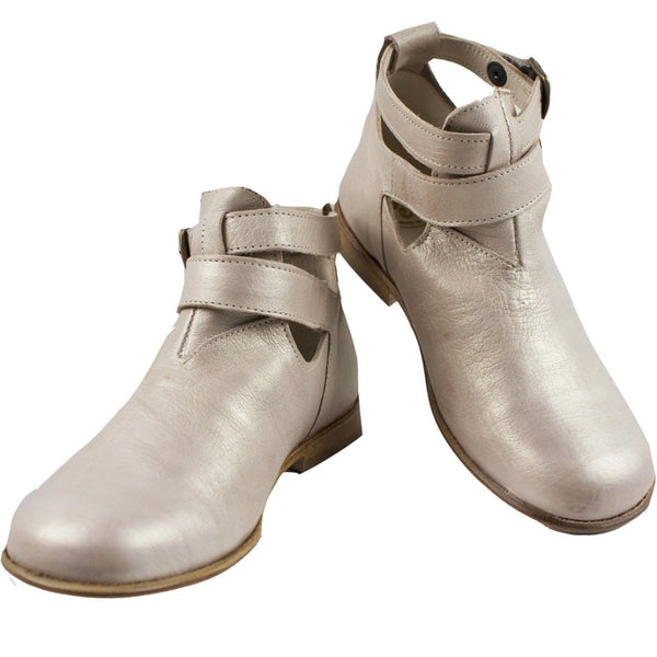 Antique Gold Booties by PePe Shoes - Little Skye Children's Boutique
