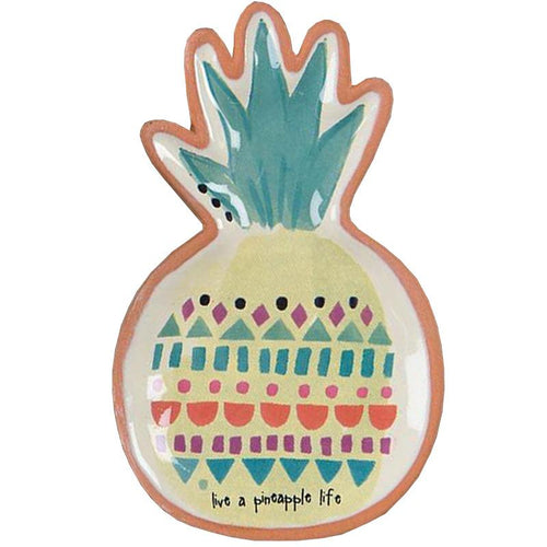 Pineapple terra cotta trinket dish