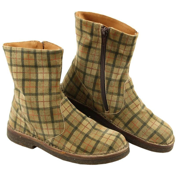 PePe Shoes brown plaid girls, toddler, little girl short boots