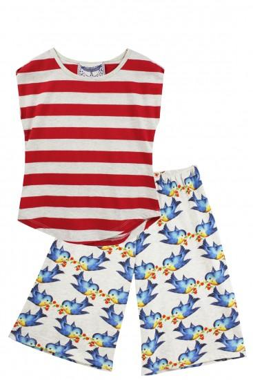 Bluebird Girls Lounge Set by Paper Wings Clothing - Little Skye Children's Boutique