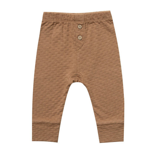 Baby copper pointelle organic knit pants
