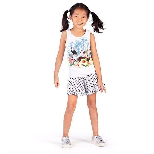 Paper wings animal photorealistic girls sleeveless top