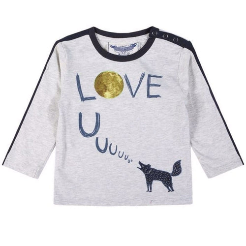 Paper Wings wolf baby boy graphic t-shirt