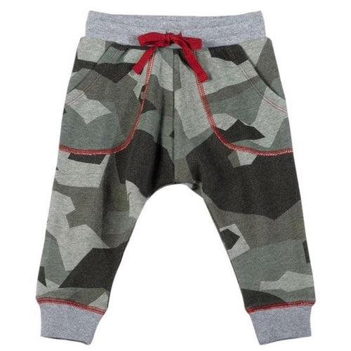 Paper wings green camo baby boy sweatpants