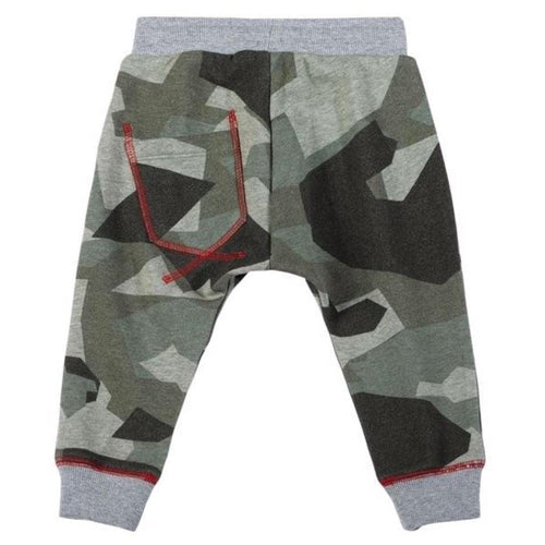 Paper wings green camo baby boy joggers