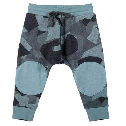 Paper wings blue camo print baby boy sweatpants