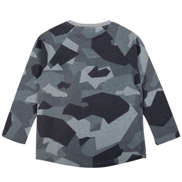 Long sleeve tiger and camo boys t-shirt by paper wings