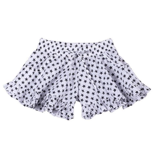 Paper wings black star print girls shorts