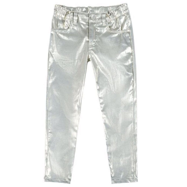 Paper wings silver unicorn embroidered girls jeans
