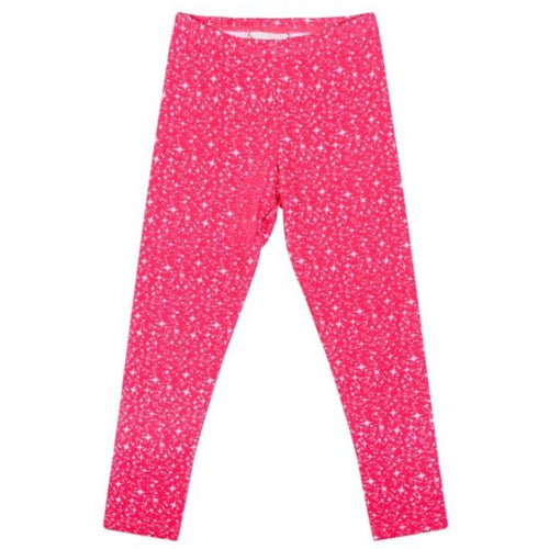 Paper wings hot prink sparkle girls leggings