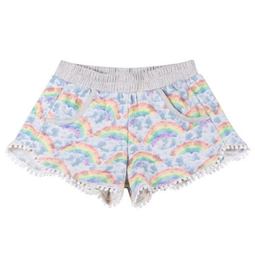 Paper wings rainbow jersey girls and toddler shorts