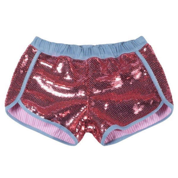 Paper wings pink sequin girls shorts