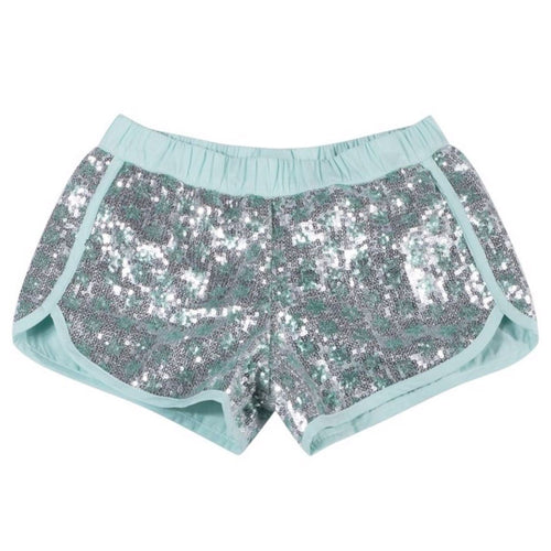 Paper wings silver sequin girls shorts